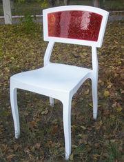 Пластиковый стул Орли с яркой цветной спинкой
