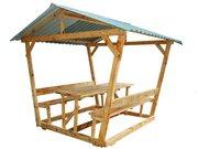 Альтанки деревяні для дому та дачі.