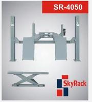 Подъемник четырех стоечный Скай Рак SR-4050 с выемками под поворотные