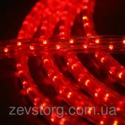 Светодиодный дюралайт LED 10м с контроллером красный