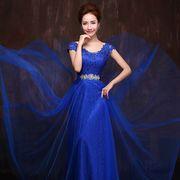 Выпускное платье синее