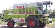 Комбайн зерноуборочный Claas Mega 208    1995г. в. Наработка . 5600м.
