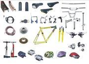 множество велосипедных запчастей